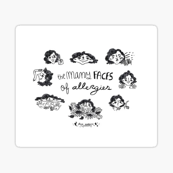 The many faces of allergies Sticker