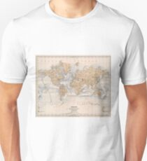 Vintage Map of The World (1884) Unisex T-Shirt