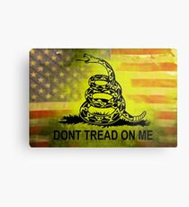 Treten Sie nicht auf mir Shirts & Aufkleber American Flag Hintergrund Metallbild