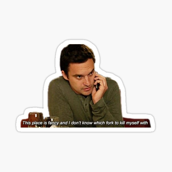 Nick Miller 8 Sticker