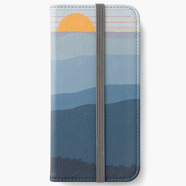"""""""Blue Mountain Morning"""" 27 iPhone Wallet"""