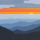 """Blue Ridge Sunset with Clouds"" 122 by Cindy Lou Chenard"