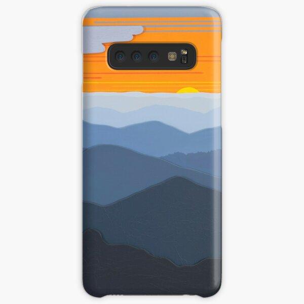 """Orange Sunset over the Ridges"" 123 Samsung Galaxy Snap Case"