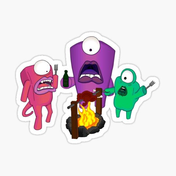 Monster Bonfire Sticker