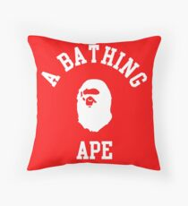 a bathing ape Throw Pillow
