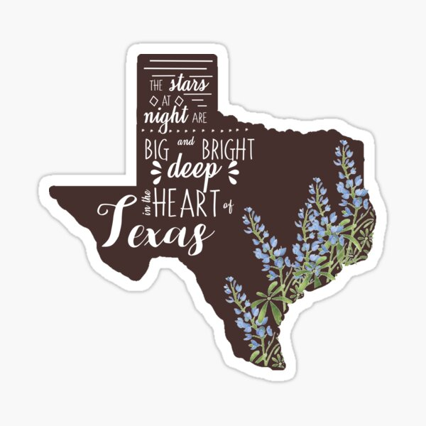 Deep in the Heart of Texas Sticker