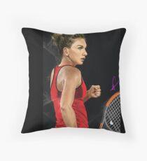 Simona Helap  Tennis Throw Pillow