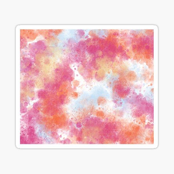 Hawaiian Sunset Abstract Painting Sticker