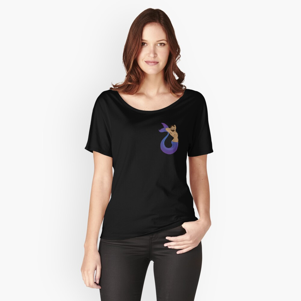Alluring Blue Merman Relaxed Fit T-Shirt