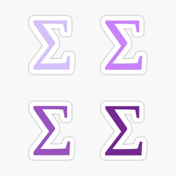 SIGMA / 4 PACK / PURPLES Sticker