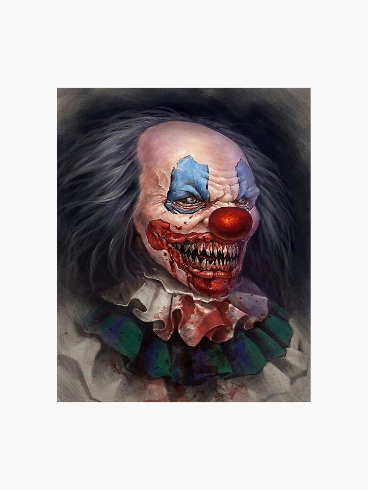 Cool Cartoon Evil killer Clown Art   Photographic Print