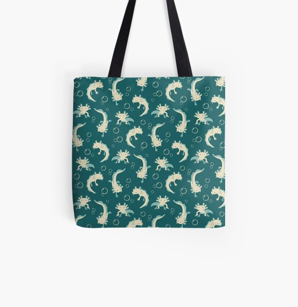 Relaxolotl - Teal All Over Print Tote Bag