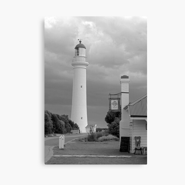 Split Point Lighthouse, Aireys Inlet, grayscale version Canvas Print
