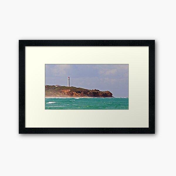 Split Point Lighthouse (4), Aireys Inlet, Great Ocean Road Framed Art Print
