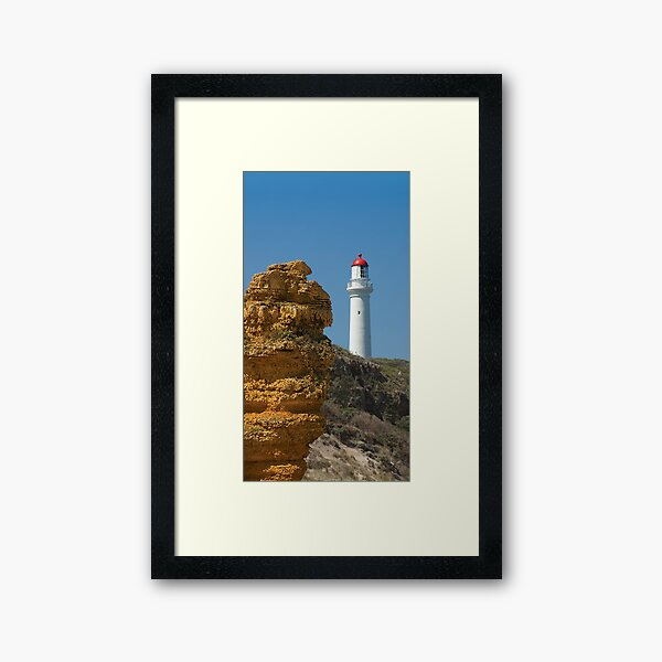 Witch Rock guarding Split Point Lighthouse at Aireys Inlet Framed Art Print