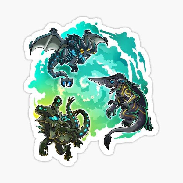 Chibi Kaiju Emerging Sticker