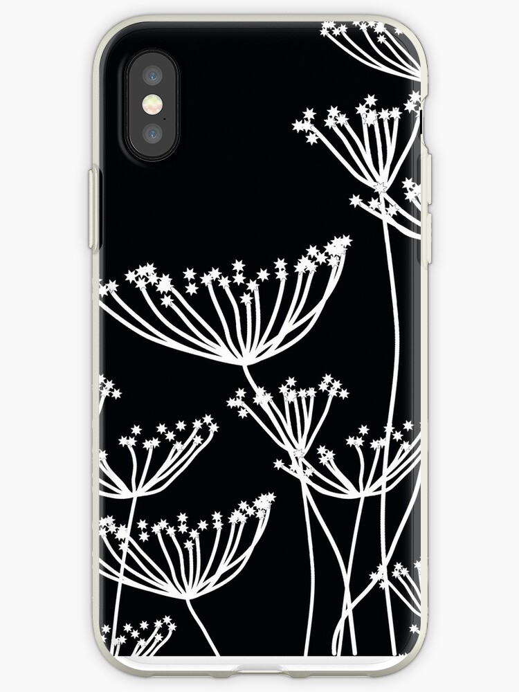 Black And White Dandelion Pattern Iphone Case By Myart23