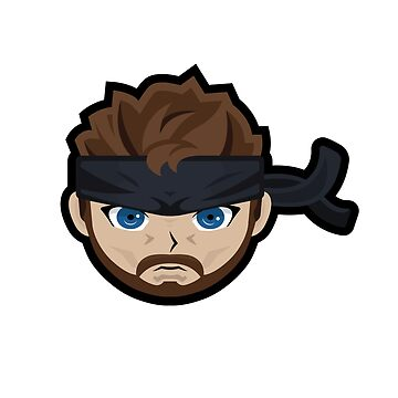 Metal Gear Solid 3 - Naked Snake Sticker by Jamieferrato19