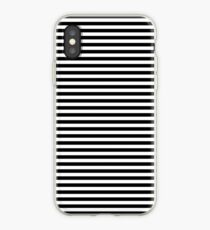 Black and White Simple Stripe iPhone Case