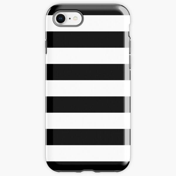 Black and White Big Stripe iPhone Tough Case