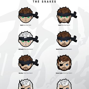 "Metal Gear Solid 1-V ""Snakes"" Poster by Jamieferrato19"