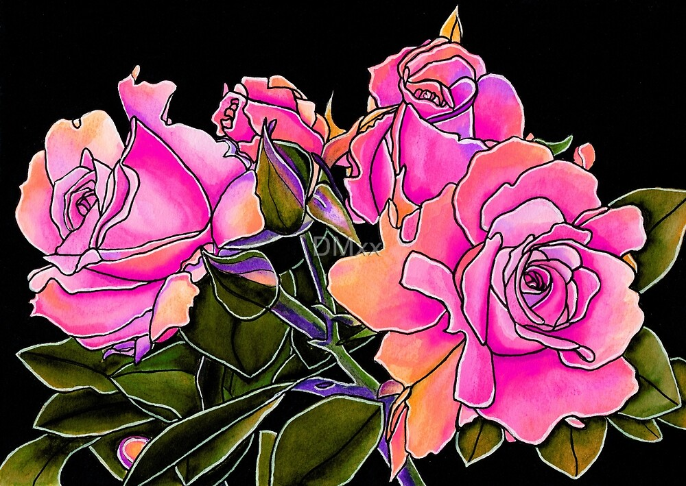 Candy Pink Roses by DMxx