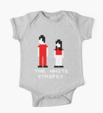 The White Stripes Pixel. One Piece - Short Sleeve