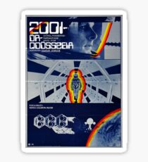 2001: A Space Odyssey Hungarian Poster Sticker