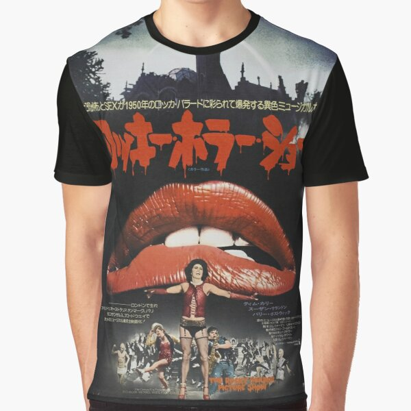 Rocky Horror Picture Show Japanese Poster Graphic T-Shirt