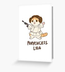 Waffles Leia Greeting Card