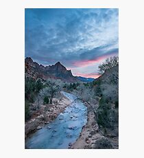 Worth the Wait – Zion National Park, Utah Photographic Print