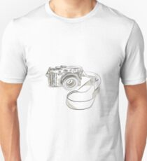 35mm SLR Film Camera Drawing Unisex T-Shirt