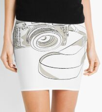 35mm SLR Film Camera Drawing Mini Skirt