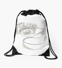 35mm SLR Film Camera Drawing Drawstring Bag