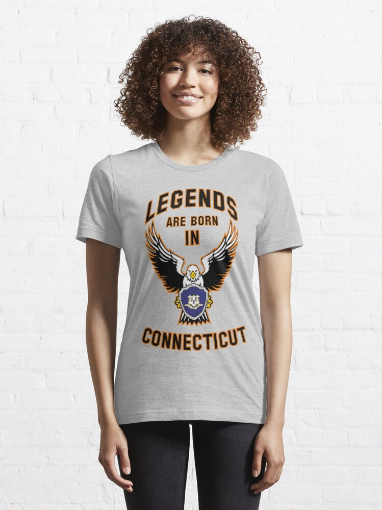 Alternate view of Legends are born in Connecticut Essential T-Shirt