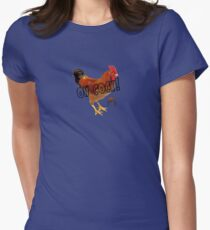 "Dann Gamer Man ""Oh Cock!"" Womens Fitted T-Shirt"
