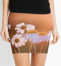 Colorful sunset with flowers Mini Skirt