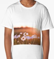 Colorful sunset with flowers Long T-Shirt