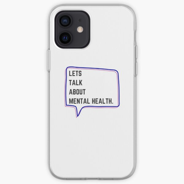 Let's talk about mental health iPhone Soft Case
