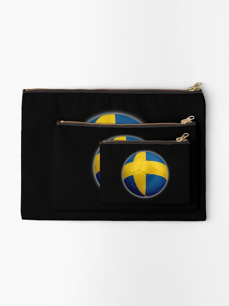 Alternative Ansicht von Schweden - Schwedische Flagge - Fußball oder Fußball 2 Täschchen