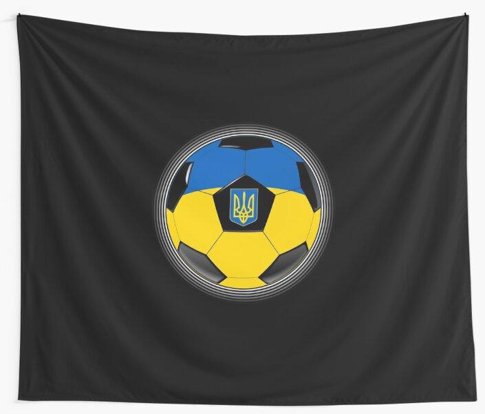 Ukraine - Ukrainian Flag - Football or Soccer