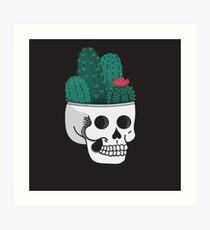 Cactus Skull Art Print
