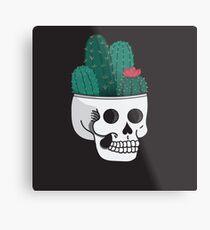 Cactus Skull Metal Print