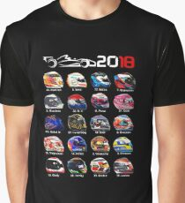 Formula 1 2018, new helmets of drivers Graphic T-Shirt