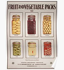 Fruit and Vegetable Packs. Poster