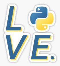 Python Love for Python Programmers Sticker Sticker