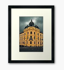 a hallowed building in Zagreb Framed Print