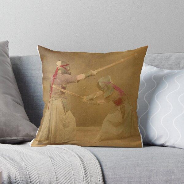 Kendo - old school Throw Pillow