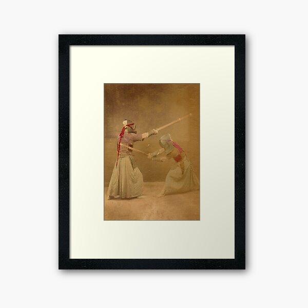 Kendo - old school Framed Art Print