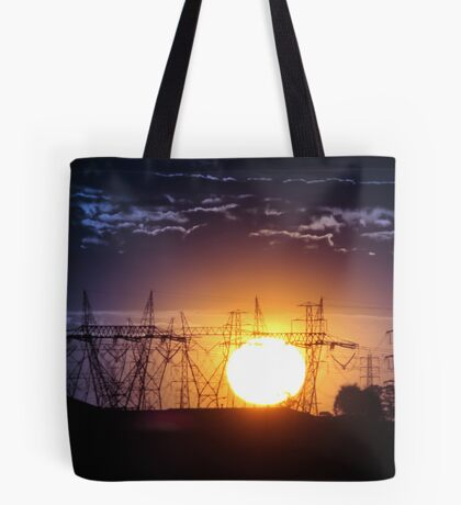 Electric Sunset Tote Bag